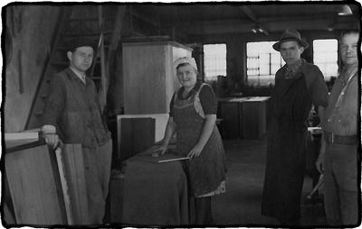 Werkstatt Manufaktur Hunger in den 50er Jahren